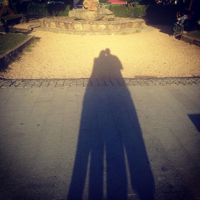 Puesta de sol en Cambados