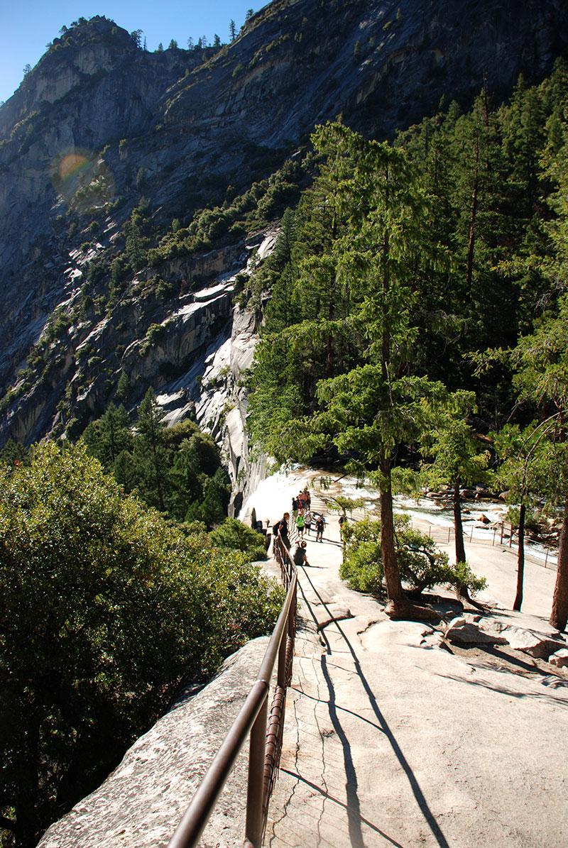 Vistas desde la parte superior de la Cascada Vernal