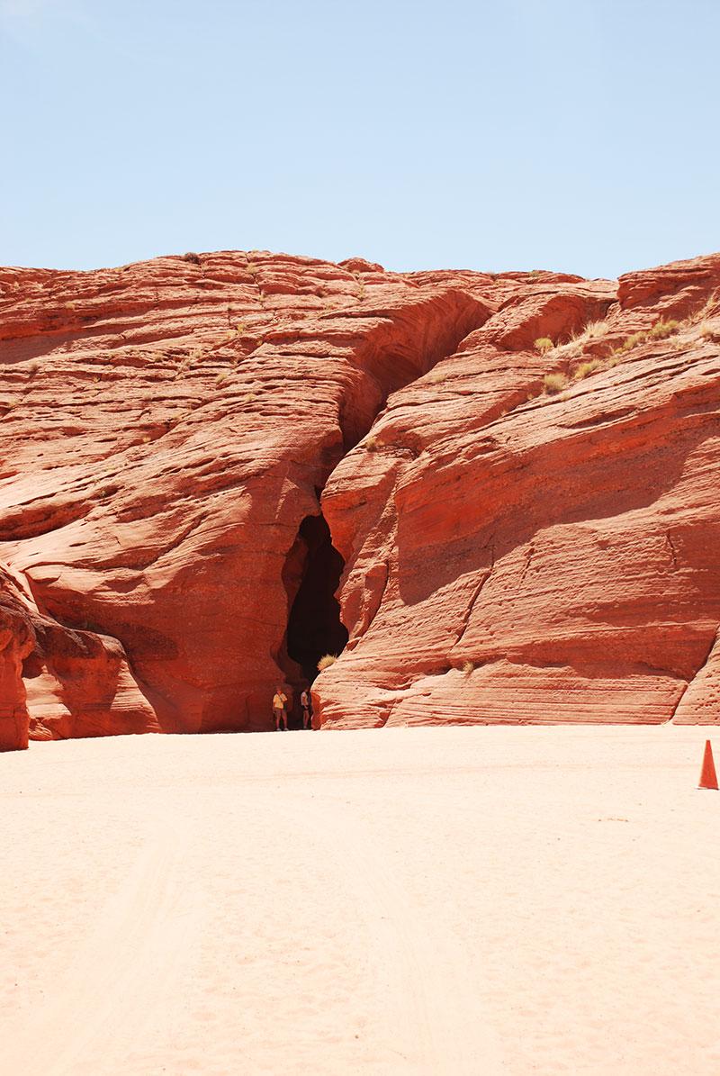 Entrada al Antelope Canyon
