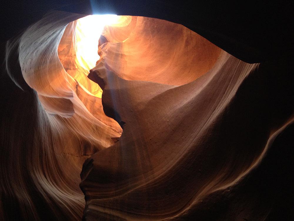 Interior del Antelope Canyon