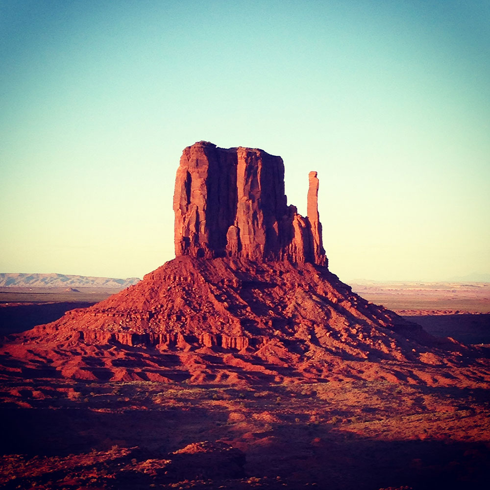 Monument Valley al atardecer