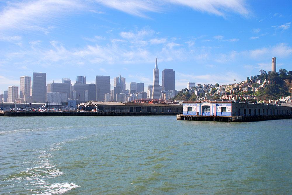 La ciudad desde el mar