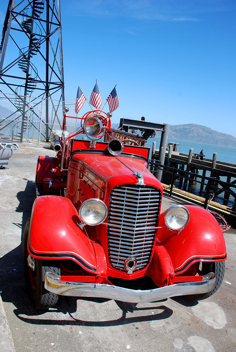 Coche de bomberos en Alcatraz