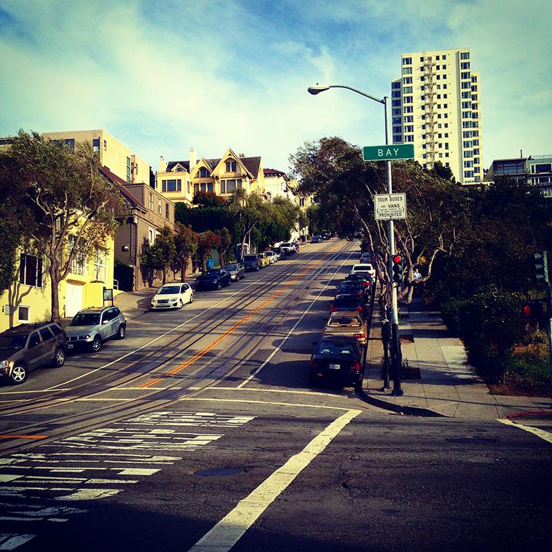 Una cuesta en San Francisco