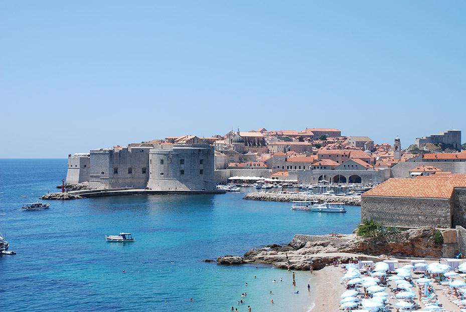 Muralla y playas de Dubrovnik