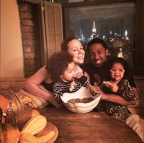 Mariah Carey con sus hijos