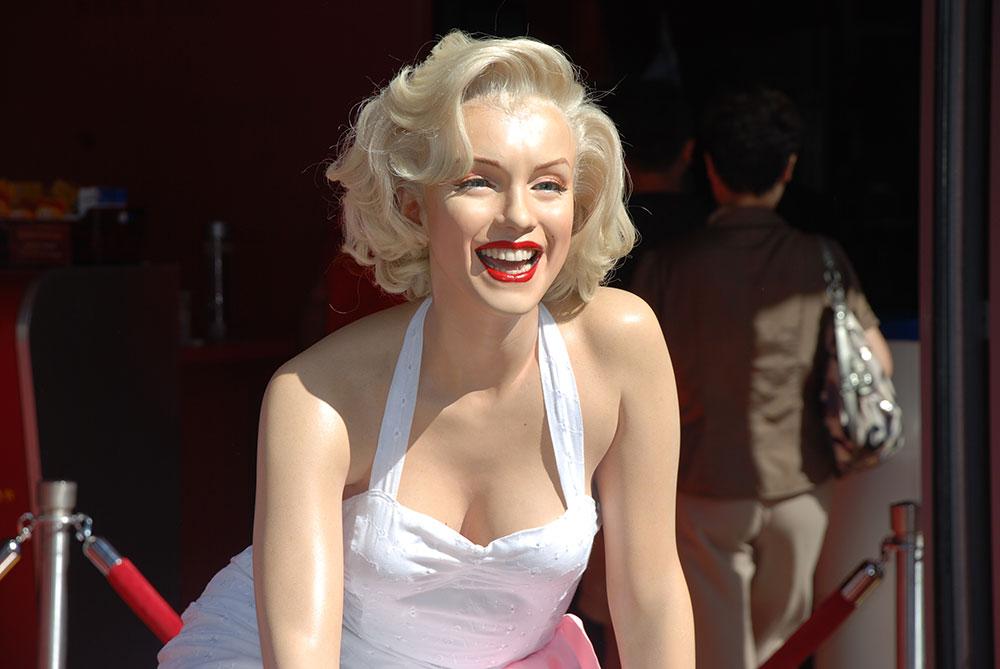 Marilyn Monroe de cera