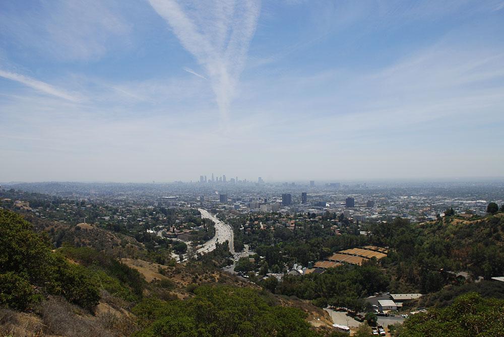 Vista aérea de la ciudad, LA