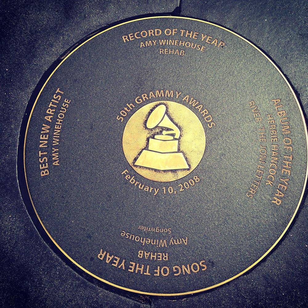 Baldosa de los Grammy, LA