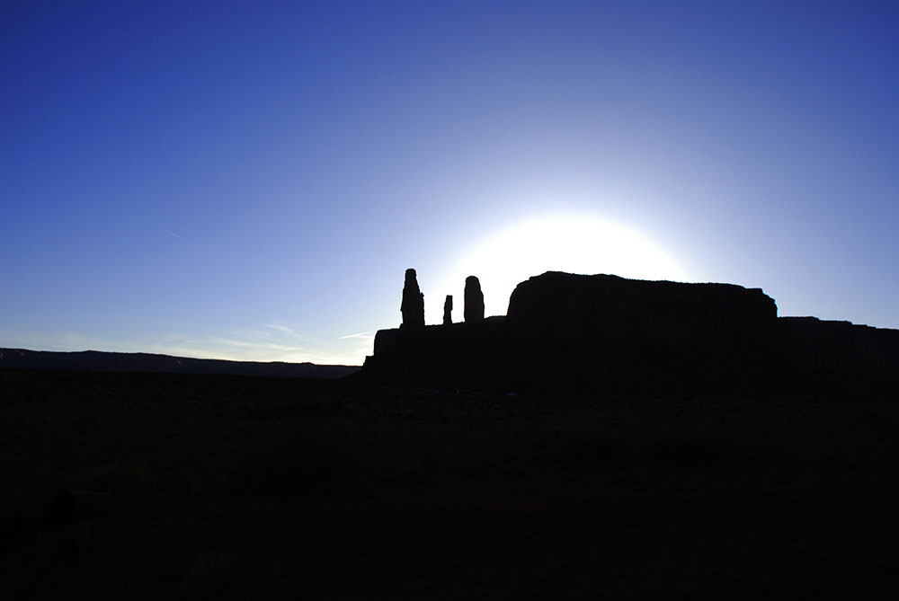 Atardecer en Monument Valley, Utah