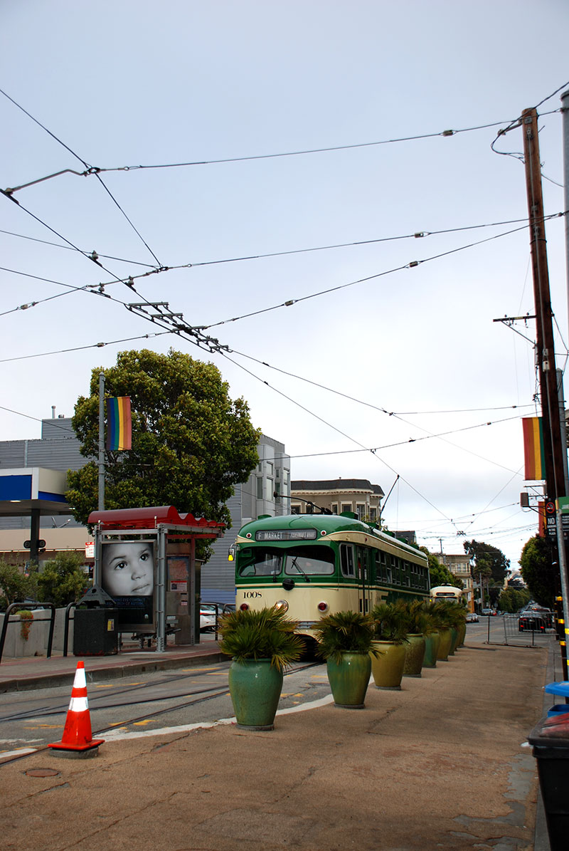 Un tranvía en el Castro