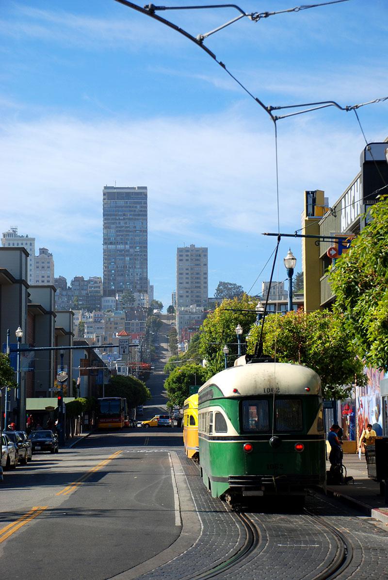 Un tranvía en San Francisco