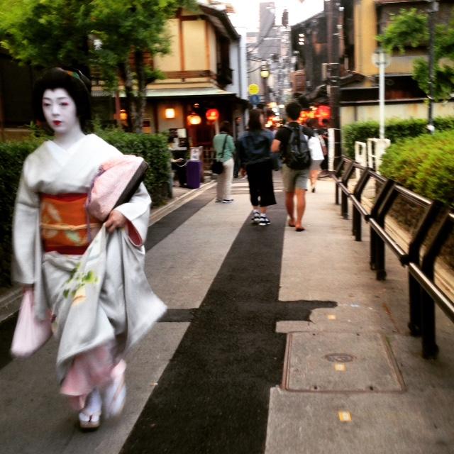 Una geisha en Pontocho