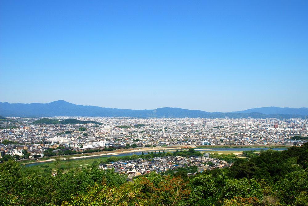 Vista panorámica de Kioto
