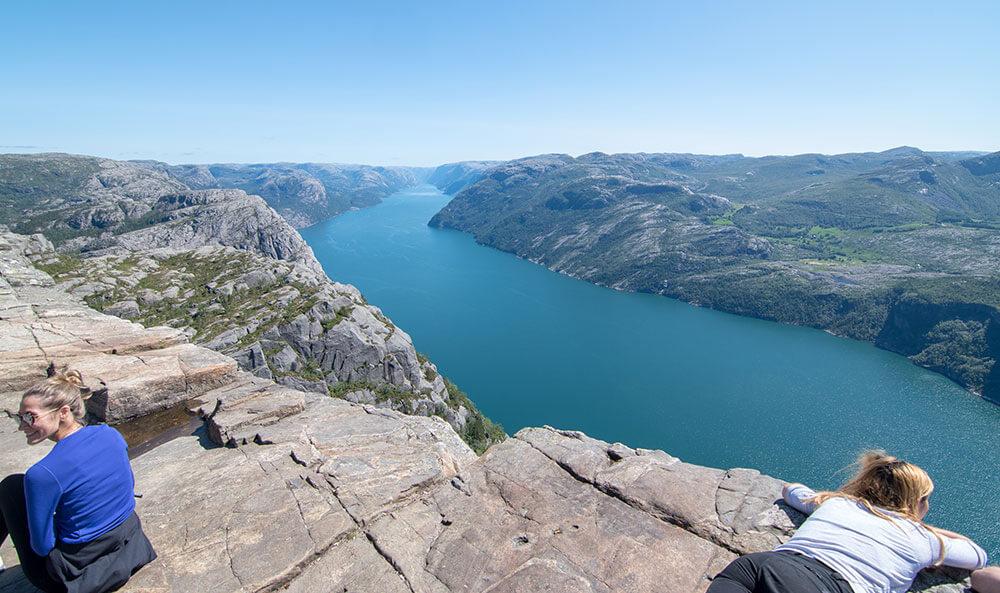 vistas preikestolen noruega