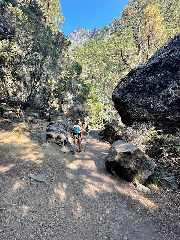 ruta de senderismo de la caldera de taburiente