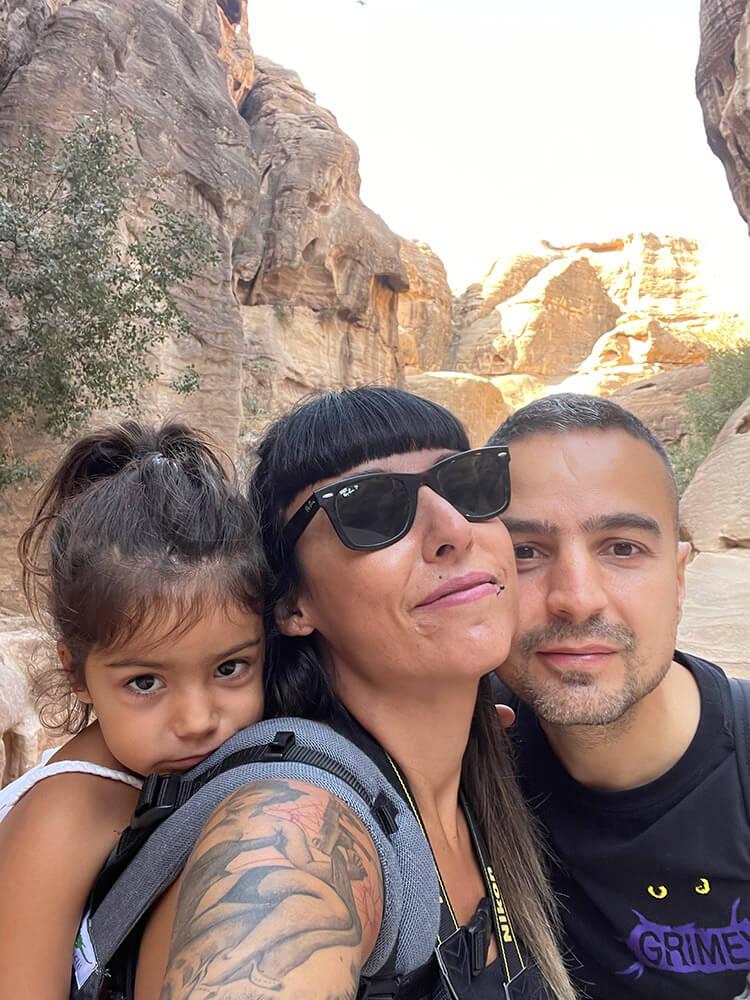 viajar en familia Jordania